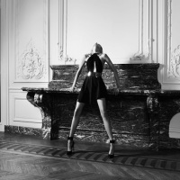 Anja Rubik Models Saint Laurent Collection