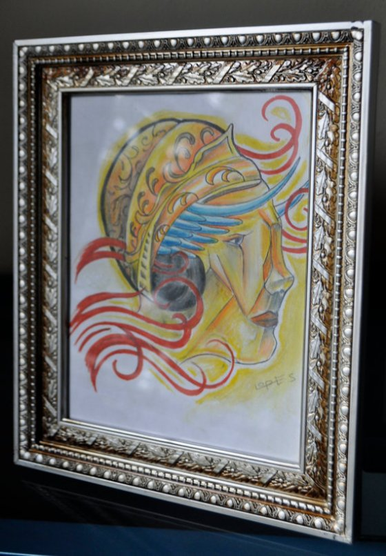 Gypsy Face Watercolor Drawing, $40