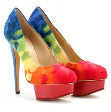 Charlotte Olympia Feather Platform Pumps