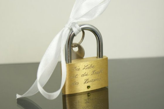 Customizable Engraved Love Padlock, $24