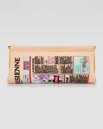 Newspaper Clutch, $1595