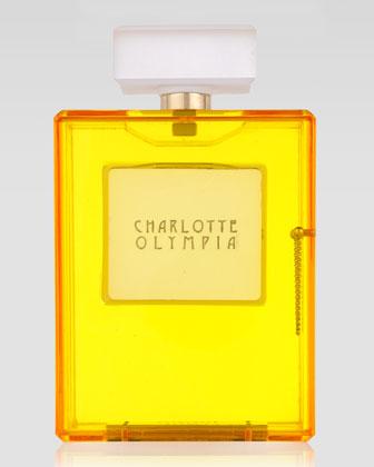 yellow perfume clutch