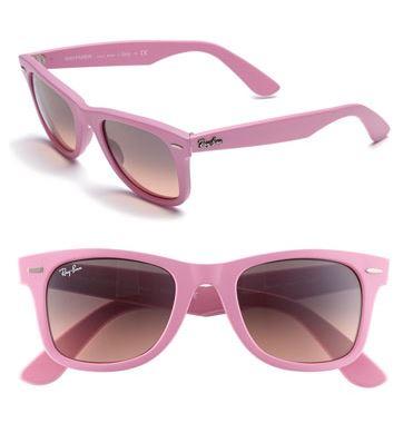 Ray-Ban Pink 'Classic Wayfarer' Sunglasses, $150