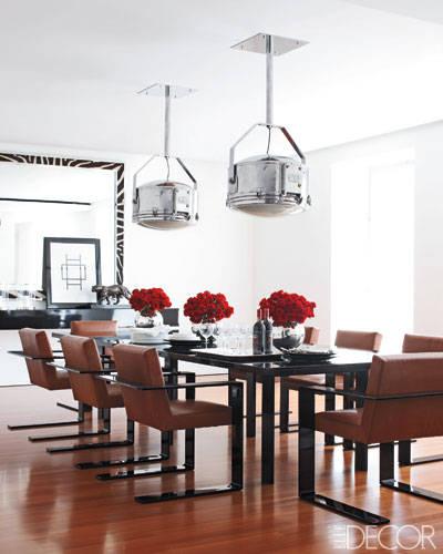 Ralph Lauren's sophisticated dining room in Manhattan