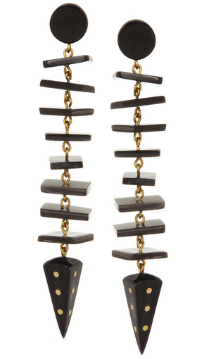 Ashley Pittman Samaki bronze & horn earrings, $395