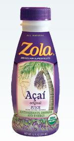 Zola Acai Juice, $29.99 for 12 servings