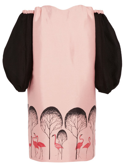 Vika Gazinskaya Printed brushed-satin and silk-blend cloque dress, $3,540
