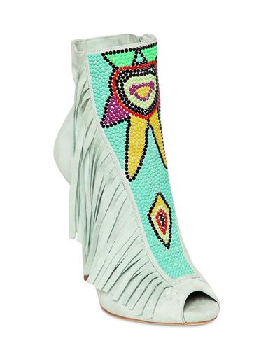 Giuseppe Zanotti Suede Inca Design Boots, $1560