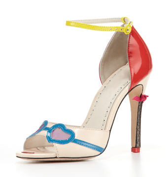 Alice + Olivia Stacy Ankle-Strap Face Pump, $325