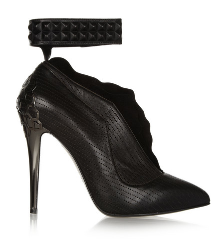 Fendi Perforated Leather & Suede Boots, $1,395
