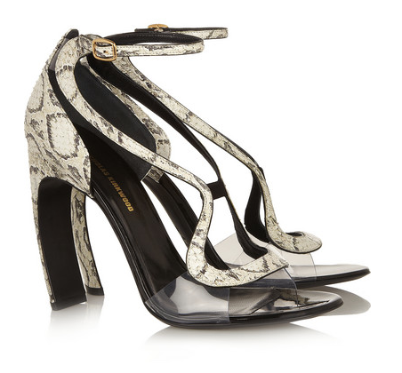 Nicholas Kirkwood Elaphe & Acetate Sandals, $1,295