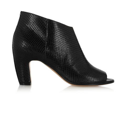 Maison Martin Margiela Snake-effect leather ankle boots, $1,020