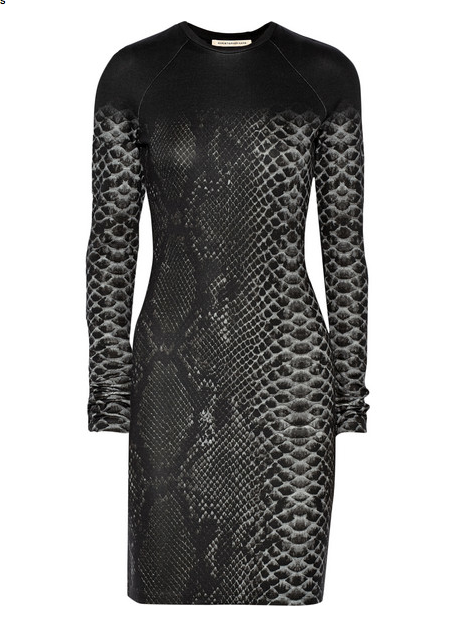 Christopher Kane Snake-print stretch-jersey mini dress, $625