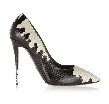 Giuseppe Zanotti Yvette printed snake-effect leather pumps, $750