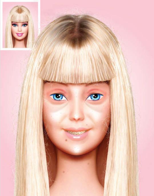 Barbie, sans make-up, by Eddi
