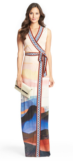 Diane Von Furstenberg Silk Jersey Maxi Wrap Dress, $575