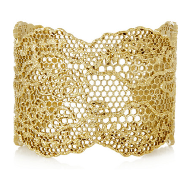 Aurelie Bidermann Vintage Lace rose gold-plated cuff, $845