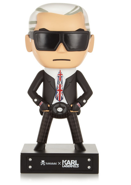 Karl Lagergeld + tokidoki Mr UK diamanté-embellished figurine, $190
