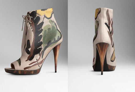 Burberry Leather Ankle Boots in Stone Brown, $1,695