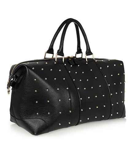 Eddie Harrop The Voyager studded textured-leather weekend bag, $1,205