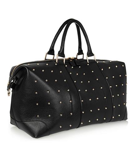 Eddie Harrop The Voyager studded textured-leather weekend bag, $1,205