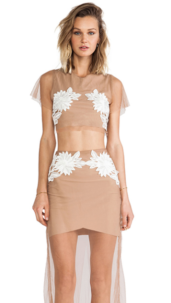 For Love & Lemons Balmy Nights Crop Top, $127