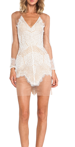 For Love & Lemons Antigua Mini Dress, $224
