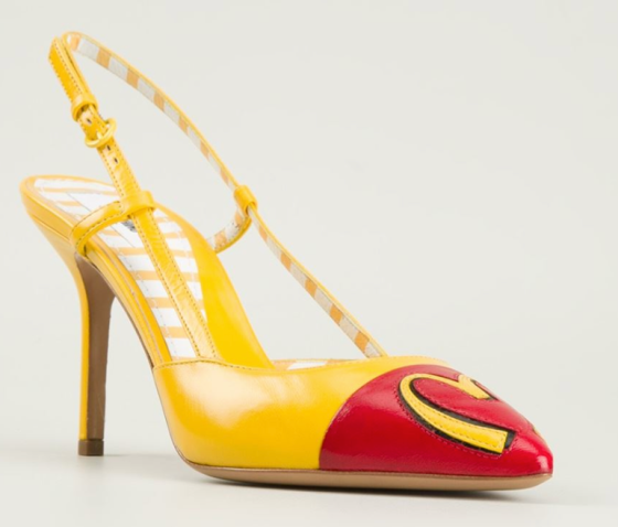 Moschino McDonald's Slingback Pumps, $704.43