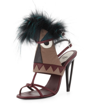 Fendi Leather Monster Bootie Sandal, $1,450