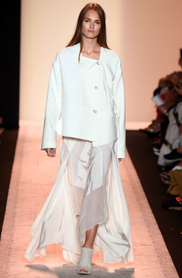 Origami-like pleats and folds give interest at BCBG Max Azria, NYFW, Spring/Summer '15
