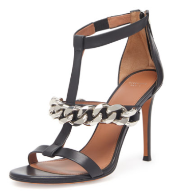 Givenchy Leather Chain T-Strap Sandals, $1,195