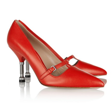 Miu Miu Leather Mary Jane pumps, $750