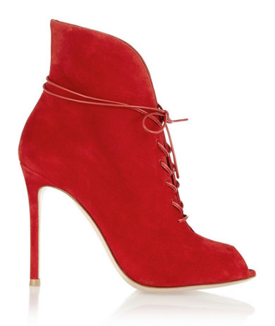 Gianvito Rossi Lace-up suede ankle boots, $1,020