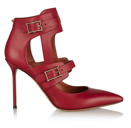 VALENTINO Hitch On cutout leather pumps, $1,145