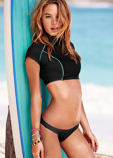 Victoria's Secret Beach Sexy Crop Rashguard, $28
