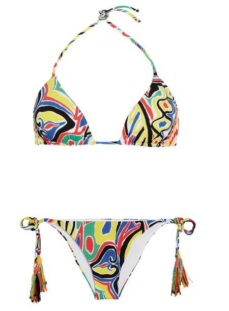 Emamò Printed triangle bikini, $340