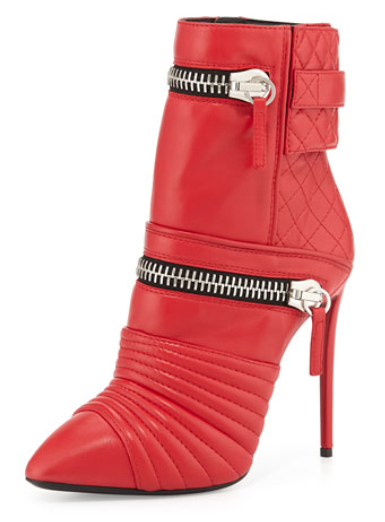 Giuseppe Zanotti Quilted Leather Double-Zip Boot, $1,695