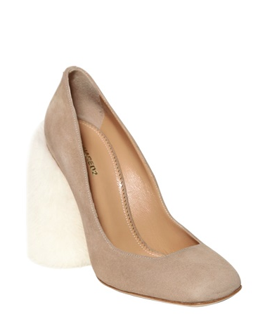 DSquared2 Mink & Suede Pumps, $1,288