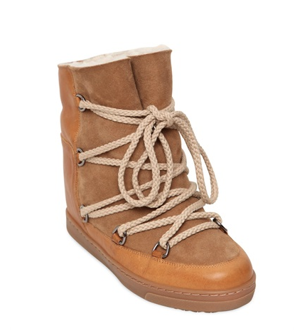 sabel Marant Etoile Suede Shearling Boots, $870