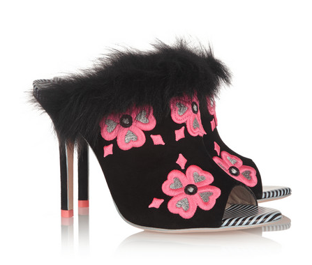 Sophia Webster Louby Embroidered Mules, $695