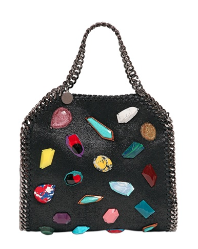 Stella McCartney Mini 3-Chain Shaggy Faux Deer Falabella, $1,495