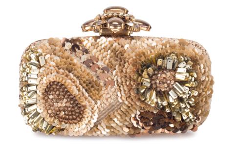 Oscar De La Renta Beige Sequin Clutch, $1,695