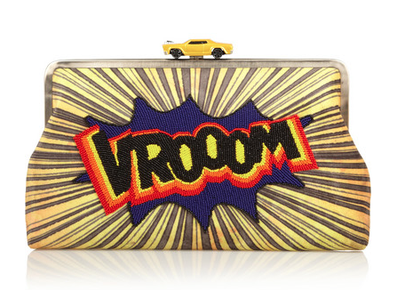 Sarah's Bag Vroom embellished velvet clutch, $549