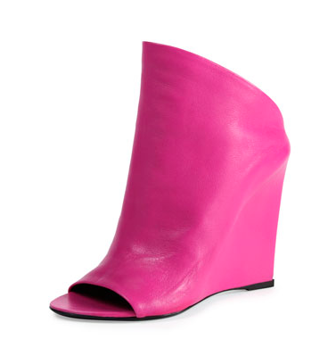 Balenciaga Open-Toe Lambskin Wedges, $995