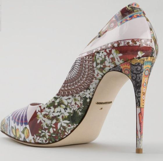 Dolce &Gabbana Sicilian Folklore Print Pumps
