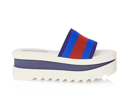Stella McCartney Striped Flatform Pool Slides, $602