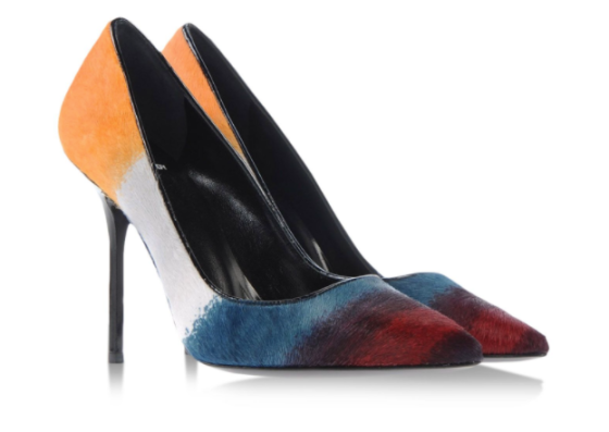 Pierre Hardy degradé stripe pumps, $448