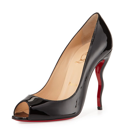 Christian Louboutin  Jolly Patent Squiggle-Heel Red Sole Pump, $795