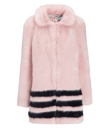 Shrimps Pink Faux Fur Dulcie Coat, $945
