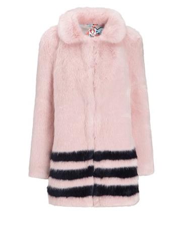 Shrimps Pink Faux Fur Dulcie Coat, $945